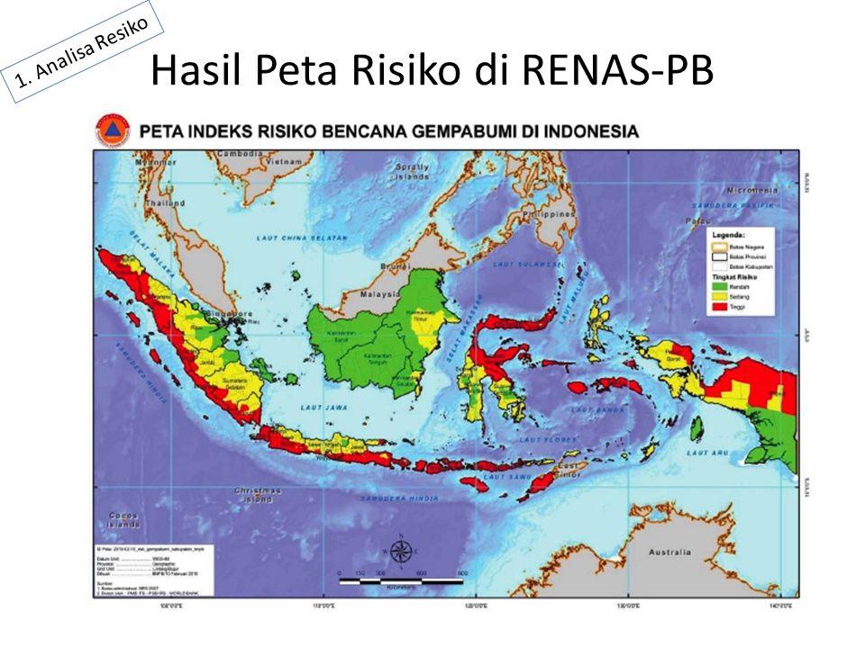 Hasil Peta Risiko di RENAS-PB