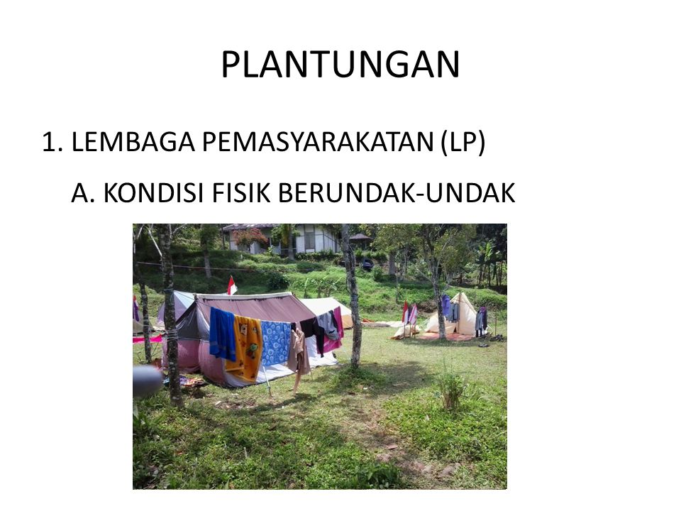 PLANTUNGAN 1. LEMBAGA PEMASYARAKATAN (LP)