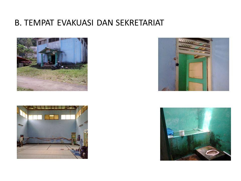 B. TEMPAT EVAKUASI DAN SEKRETARIAT