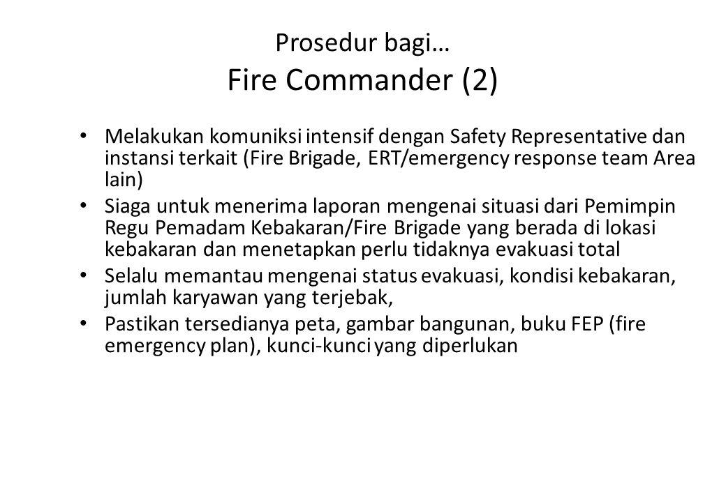 Prosedur bagi… Fire Commander (2)