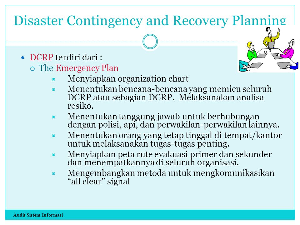 Disaster Contingency and Recovery Planning