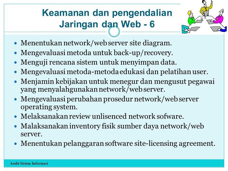Keamanan dan pengendalian Jaringan dan Web - 6