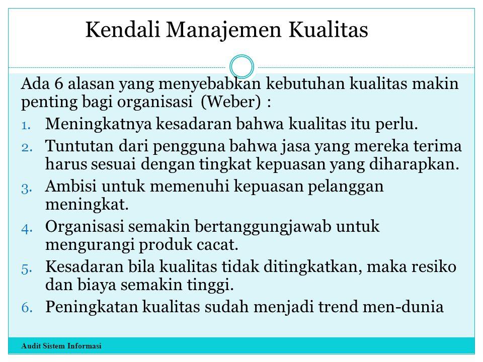 Kendali Manajemen Kualitas