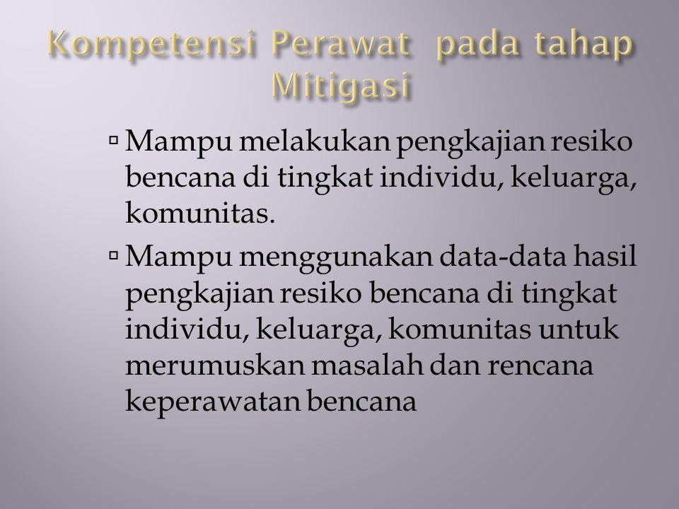 Kompetensi Perawat pada tahap Mitigasi