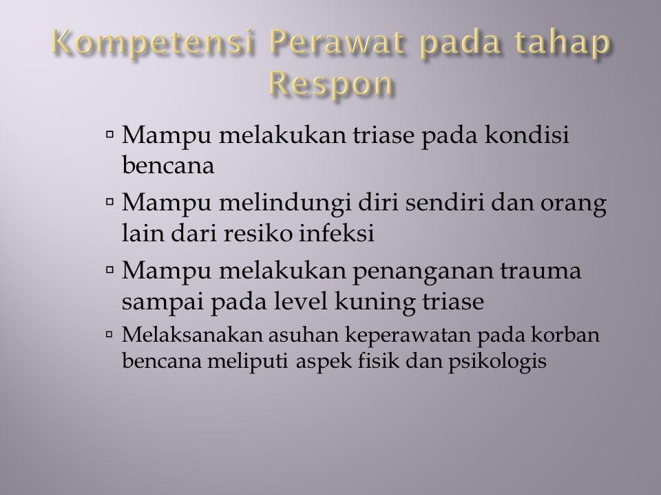 Kompetensi Perawat pada tahap Respon