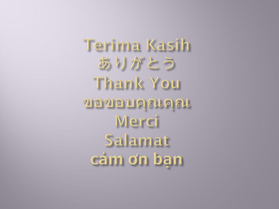 Terima Kasih ありがとう Thank You ขอขอบคุณคุณ Merci Salamat cảm ơn bạn