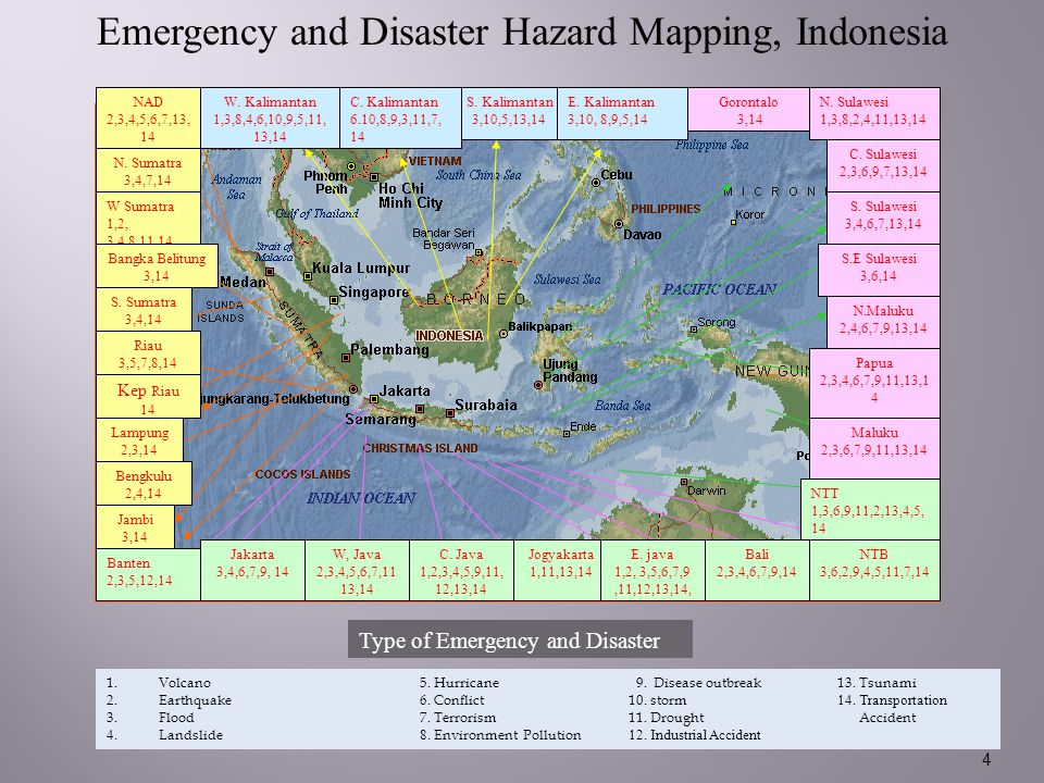 Emergency and Disaster Hazard Mapping, Indonesia
