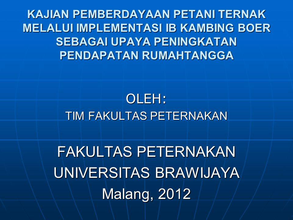 UNIVERSITAS BRAWIJAYA Malang, 2012