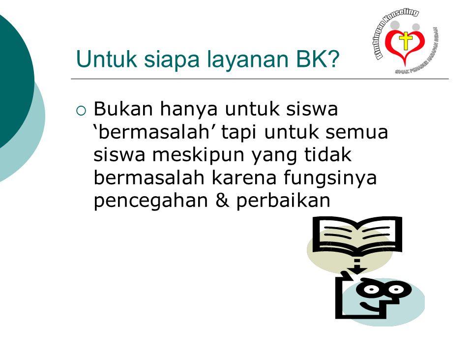 Untuk siapa layanan BK