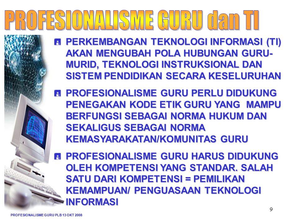 PROFESIONALISME GURU dan TI