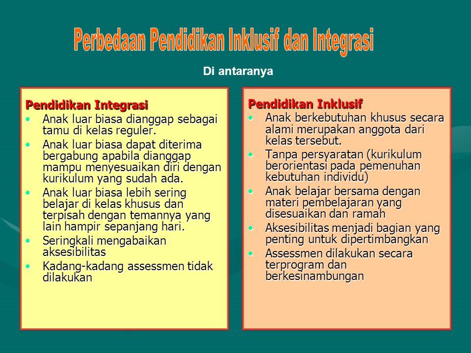 Perbedaan Pendidikan Inklusif dan Integrasi