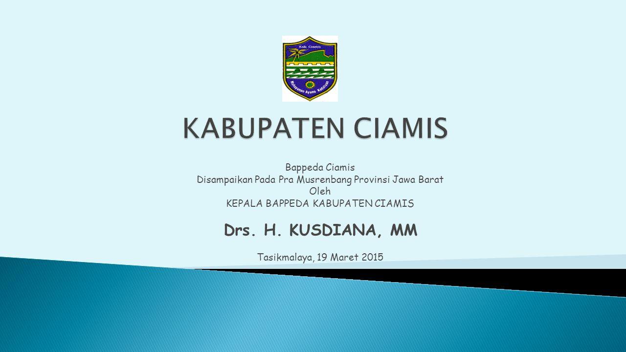 KABUPATEN CIAMIS Drs. H. KUSDIANA, MM Bappeda Ciamis
