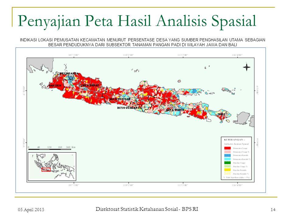 Penyajian Peta Hasil Analisis Spasial