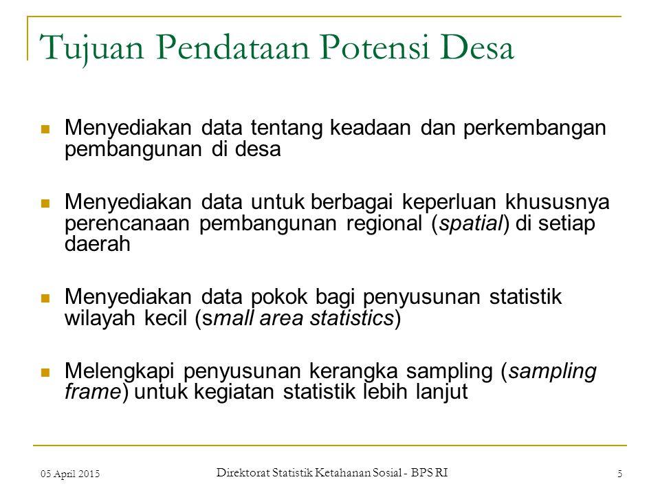 Tujuan Pendataan Potensi Desa