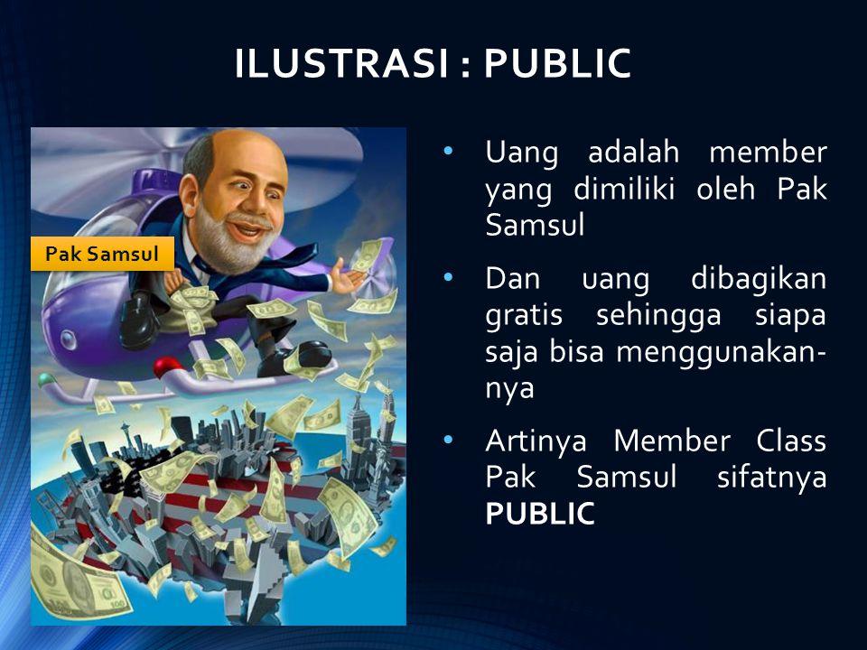 ILUSTRASI : PUBLIC Uang adalah member yang dimiliki oleh Pak Samsul