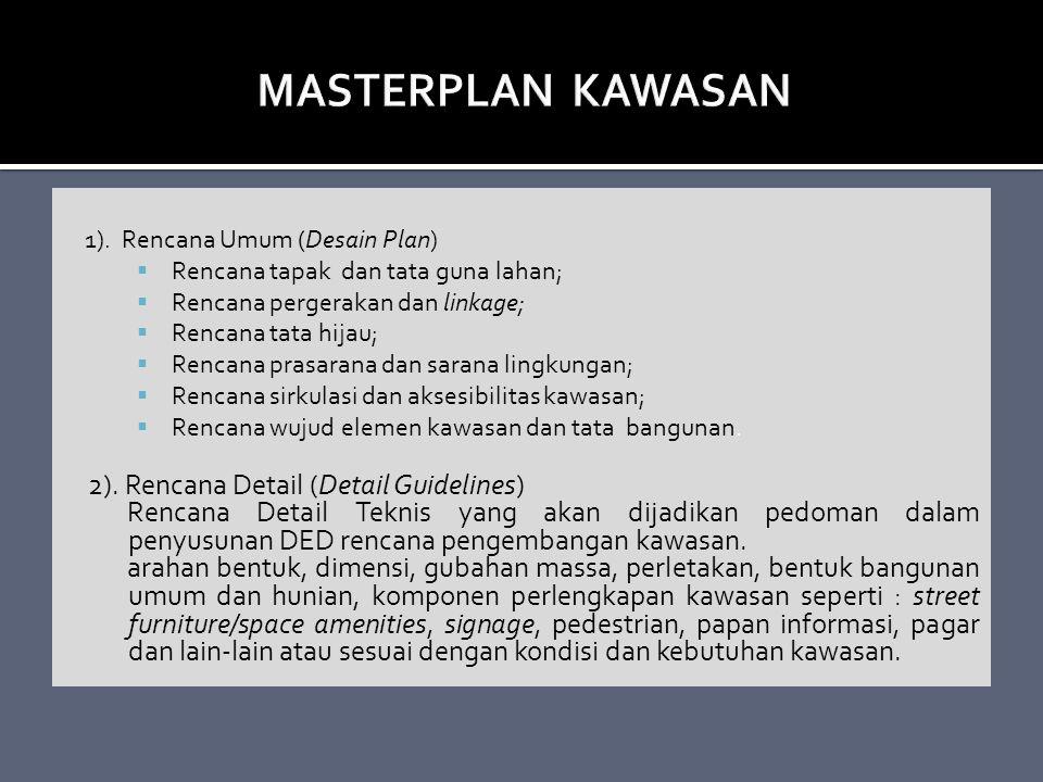 MASTERPLAN KAWASAN 2). Rencana Detail (Detail Guidelines)