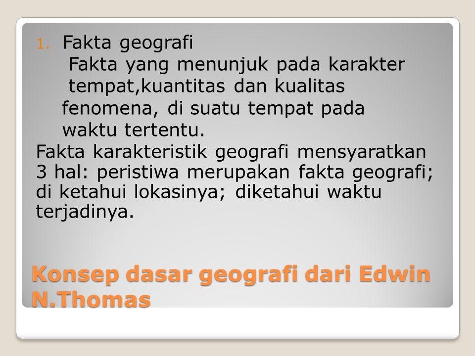 Konsep dasar geografi dari Edwin N.Thomas