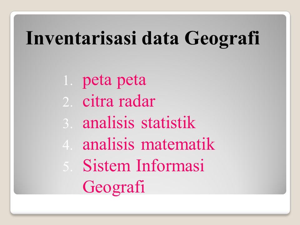 Inventarisasi data Geografi