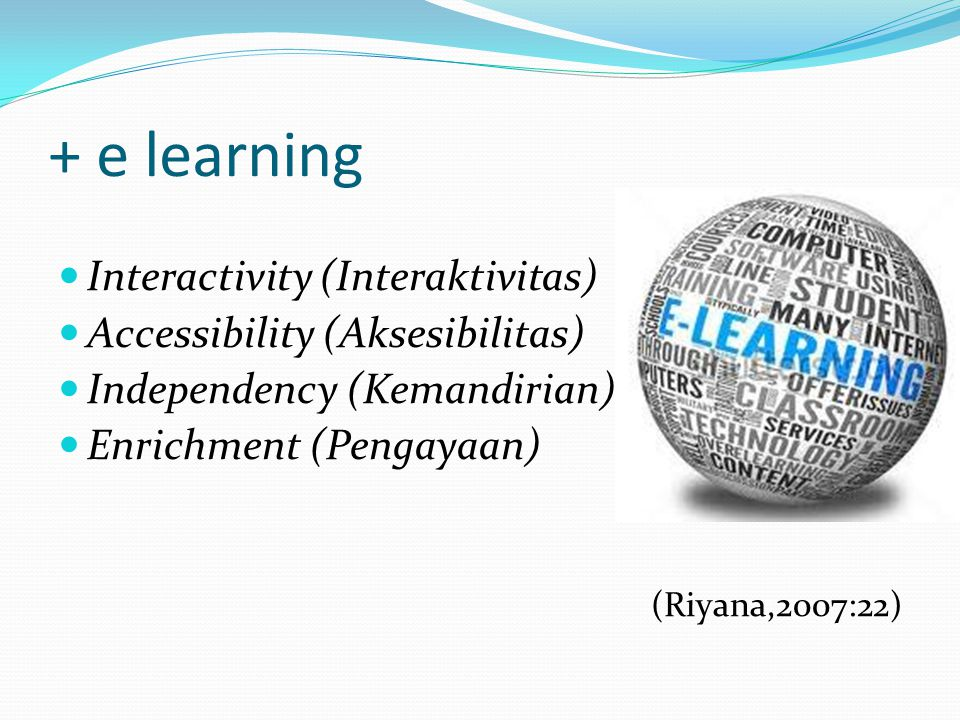 + e learning Interactivity (Interaktivitas)