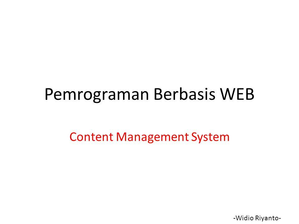 Pemrograman Berbasis WEB