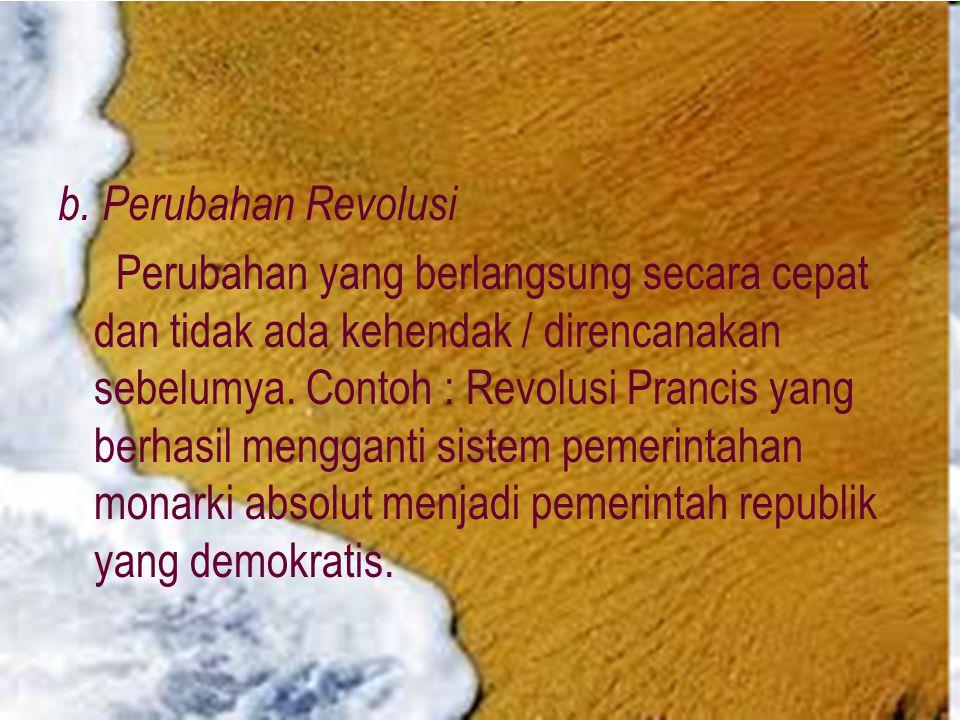 b. Perubahan Revolusi