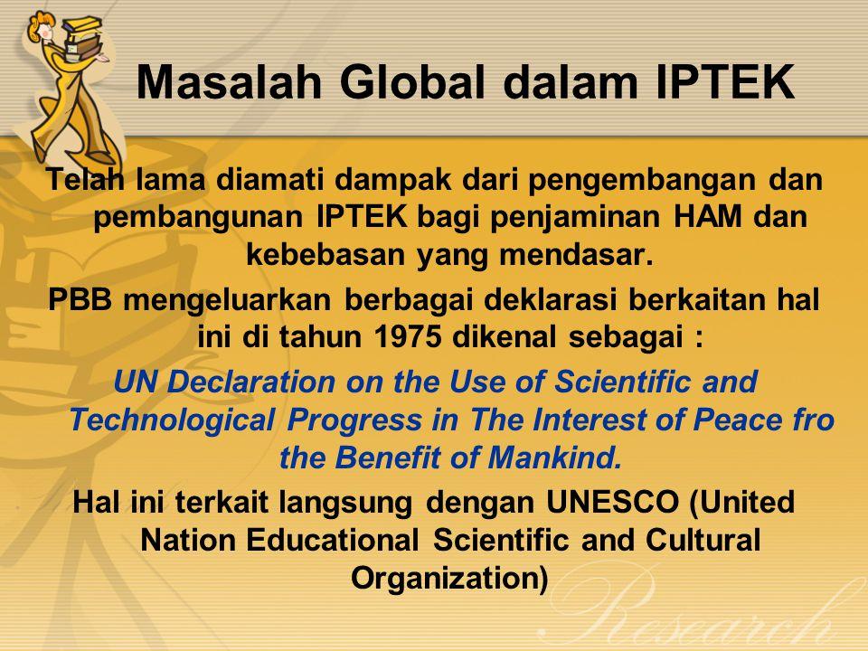 Masalah Global dalam IPTEK