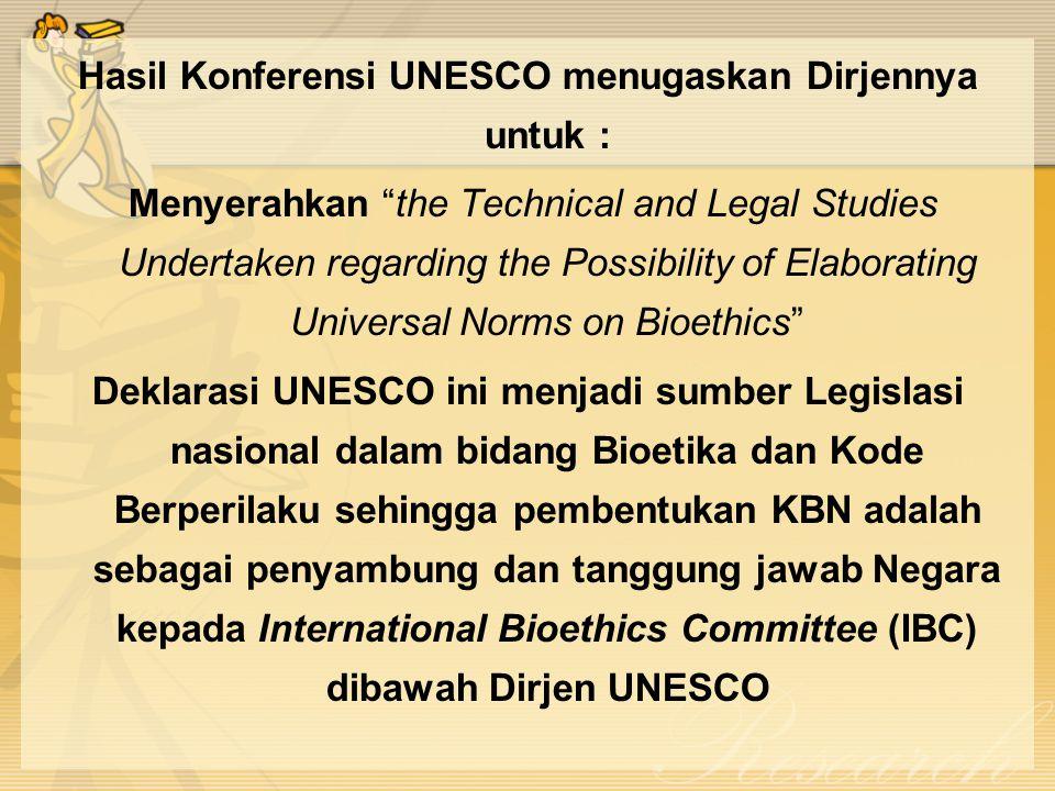 Hasil Konferensi UNESCO menugaskan Dirjennya untuk :