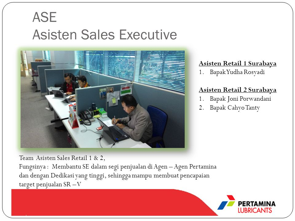 ASE Asisten Sales Executive