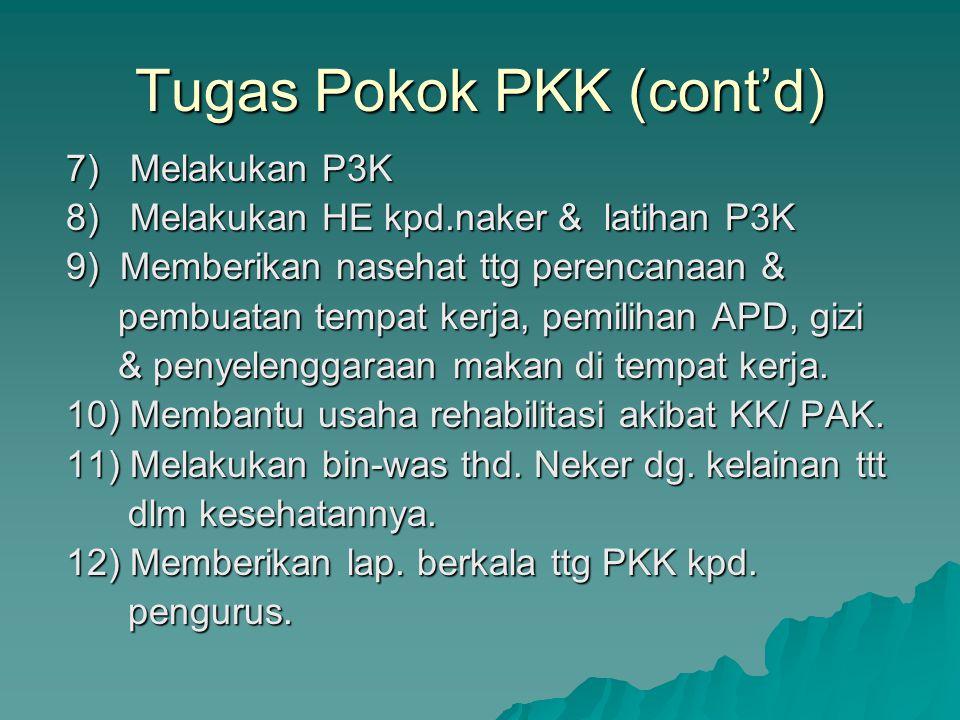 Tugas Pokok PKK (cont'd)