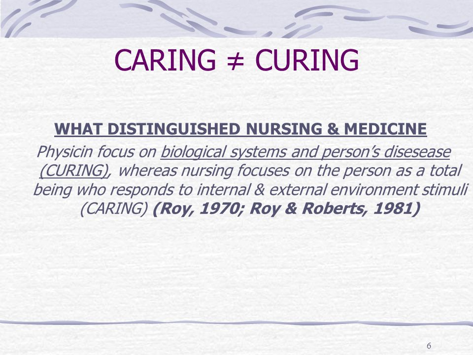 WHAT DISTINGUISHED NURSING & MEDICINE