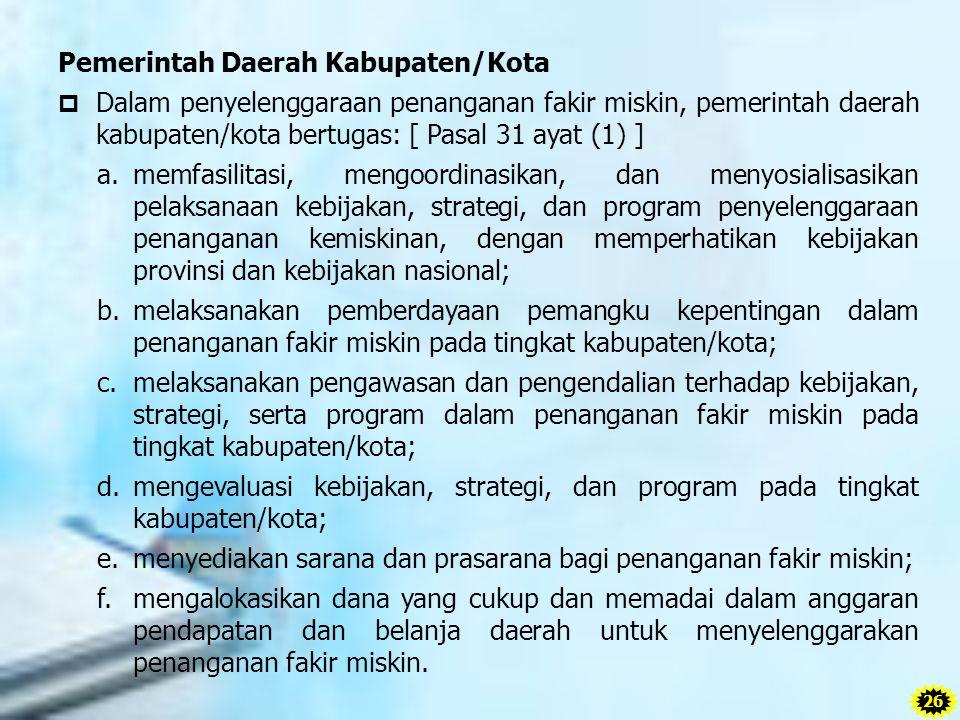 Pemerintah Daerah Kabupaten/Kota
