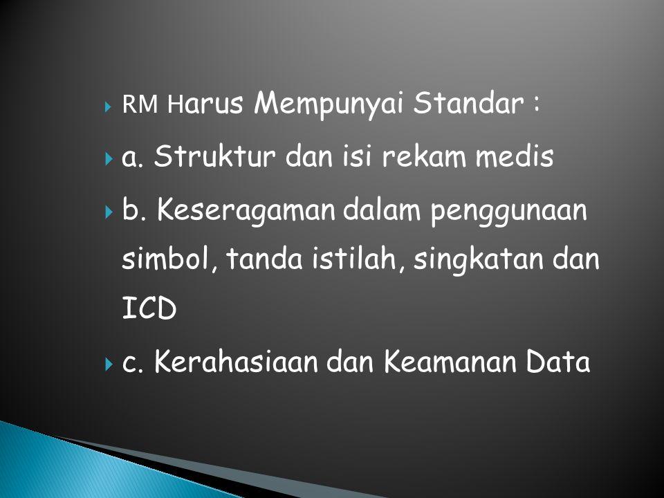 a. Struktur dan isi rekam medis