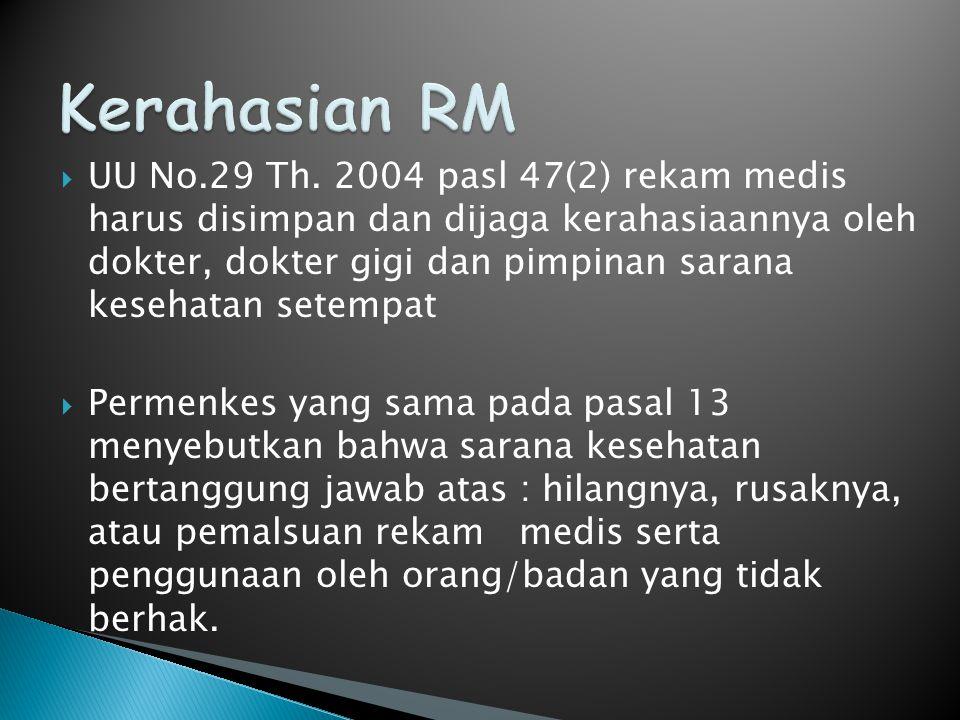 Kerahasian RM