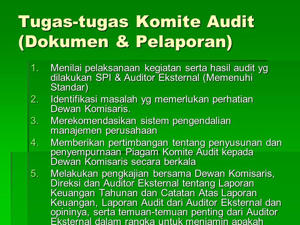 Tugas-tugas Komite Audit (Dokumen & Pelaporan)