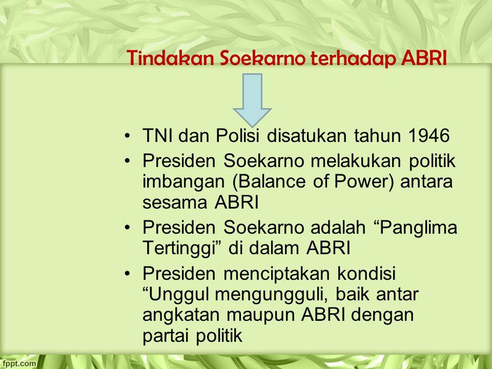 Tindakan Soekarno terhadap ABRI