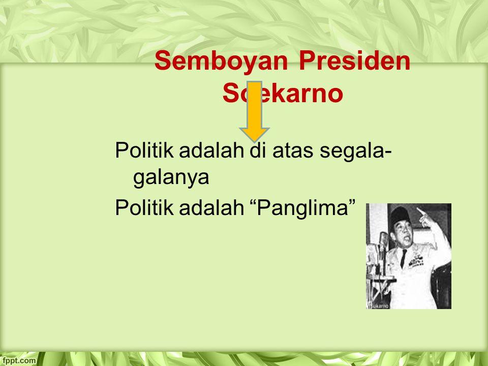 Semboyan Presiden Soekarno