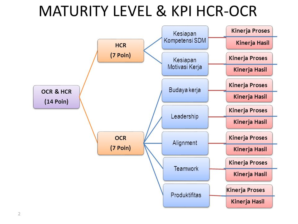 MATURITY LEVEL & KPI HCR-OCR