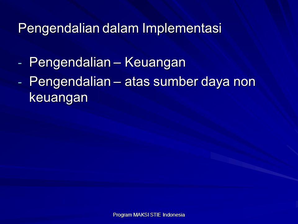 Pengendalian dalam Implementasi