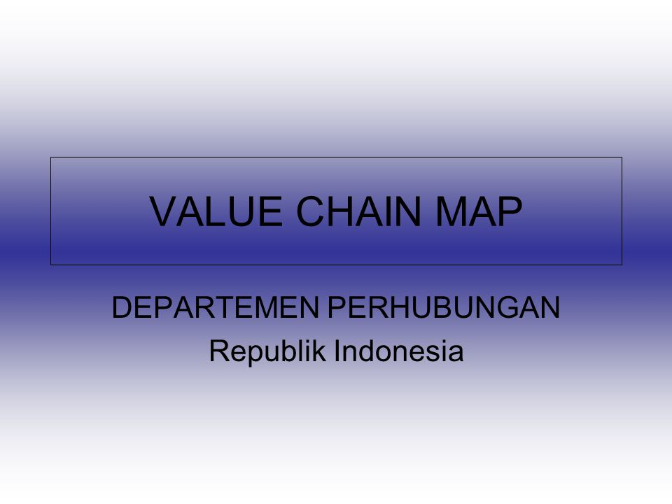 DEPARTEMEN PERHUBUNGAN Republik Indonesia