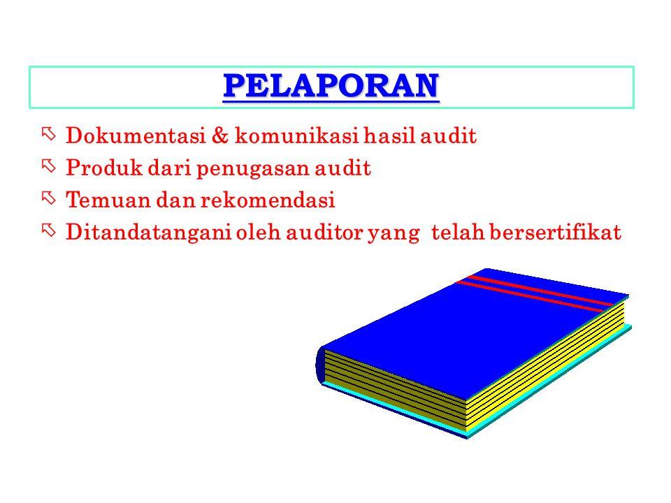 PELAPORAN Dokumentasi & komunikasi hasil audit