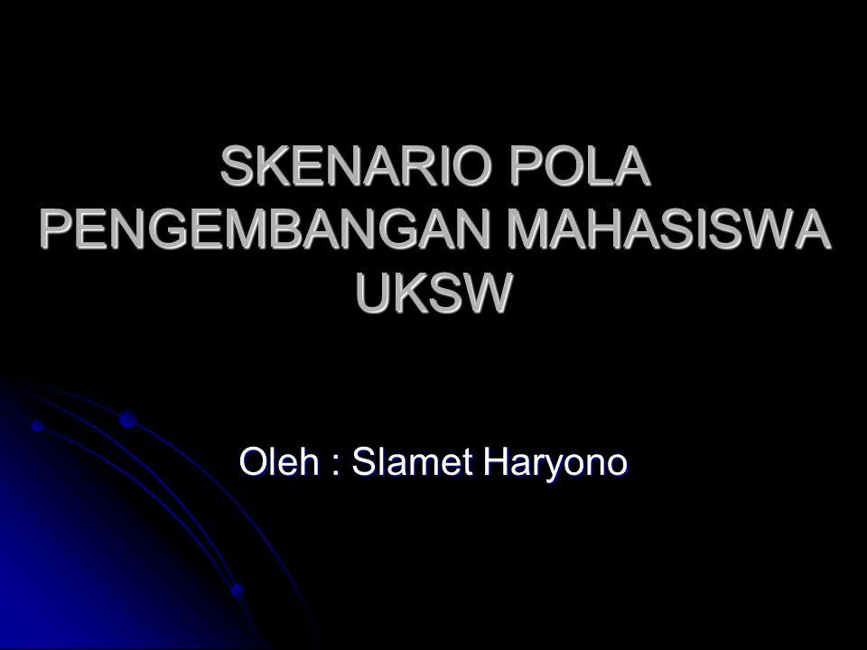 SKENARIO POLA PENGEMBANGAN MAHASISWA UKSW