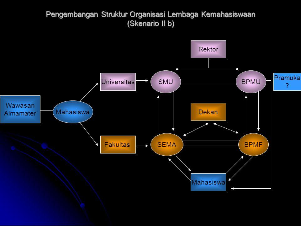 Pengembangan Struktur Organisasi Lembaga Kemahasiswaan (Skenario II b)