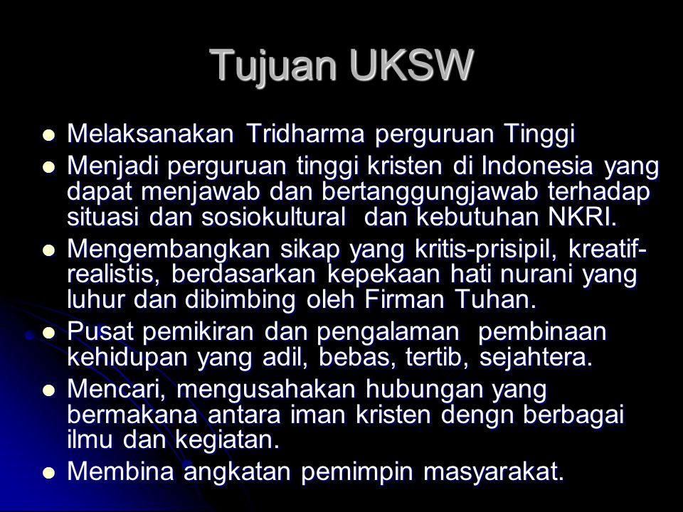 Tujuan UKSW Melaksanakan Tridharma perguruan Tinggi