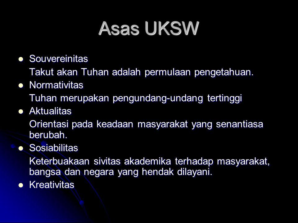 Asas UKSW Souvereinitas Takut akan Tuhan adalah permulaan pengetahuan.