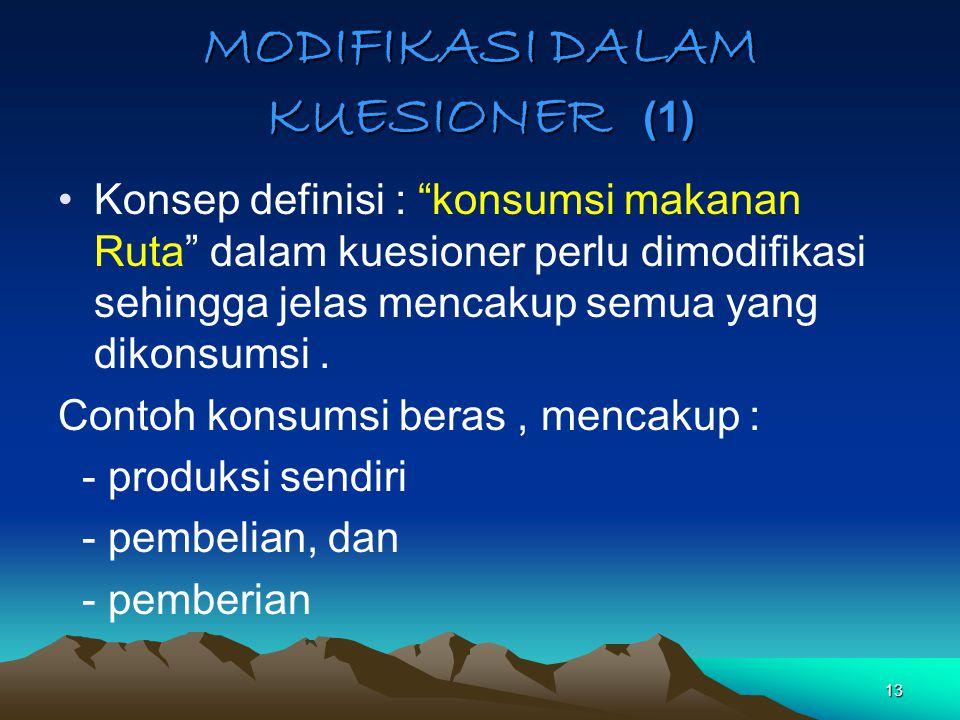 MODIFIKASI DALAM KUESIONER (1)