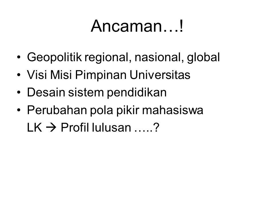 Ancaman…! Geopolitik regional, nasional, global