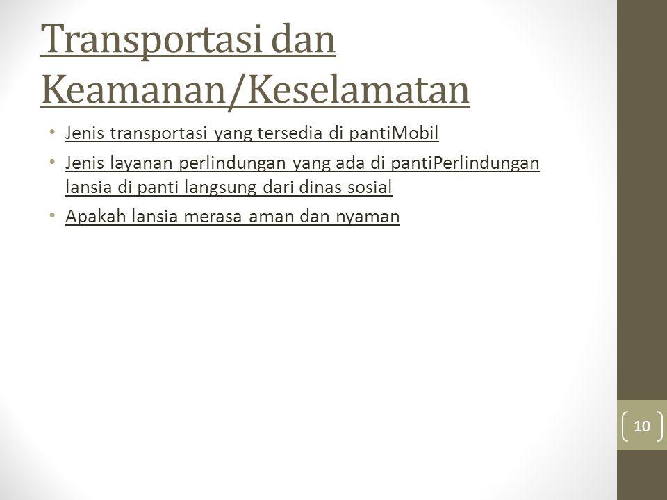 Transportasi dan Keamanan/Keselamatan