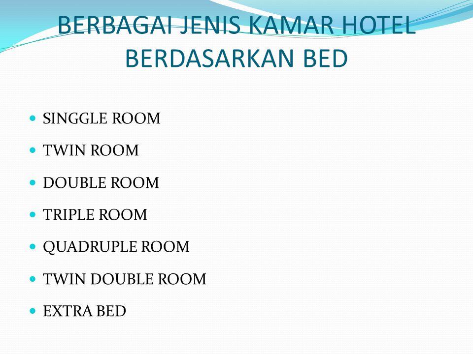 BERBAGAI JENIS KAMAR HOTEL BERDASARKAN BED
