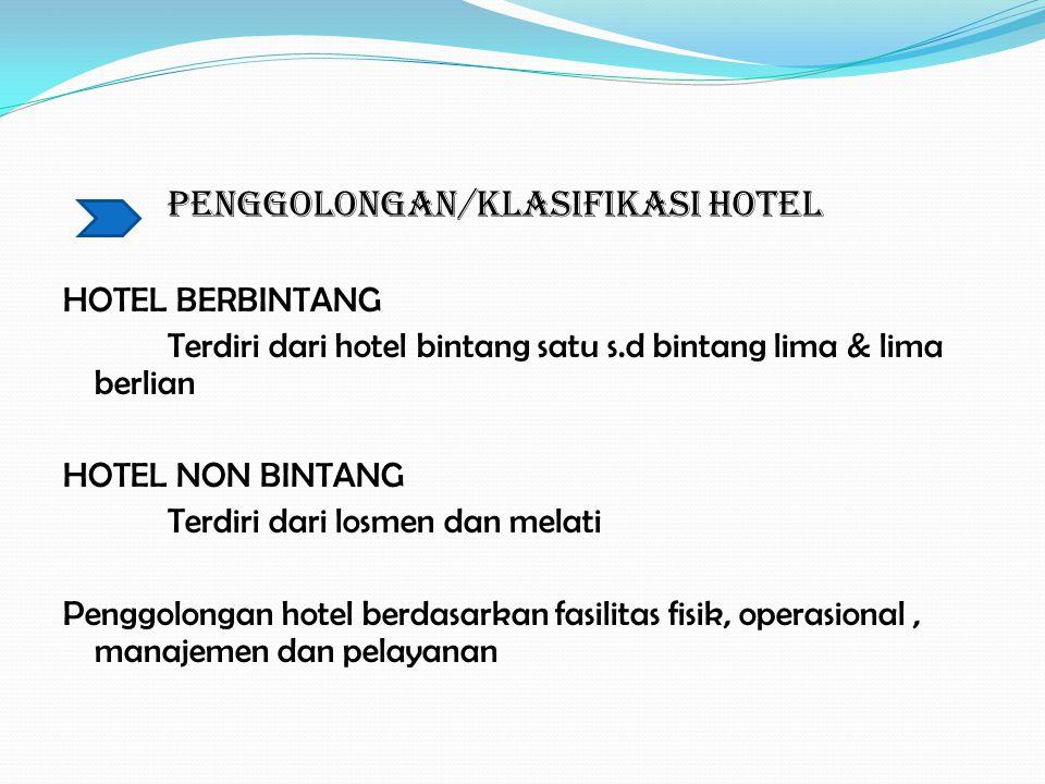 PENGGOLONGAN/KLASIFIKASI HOTEL