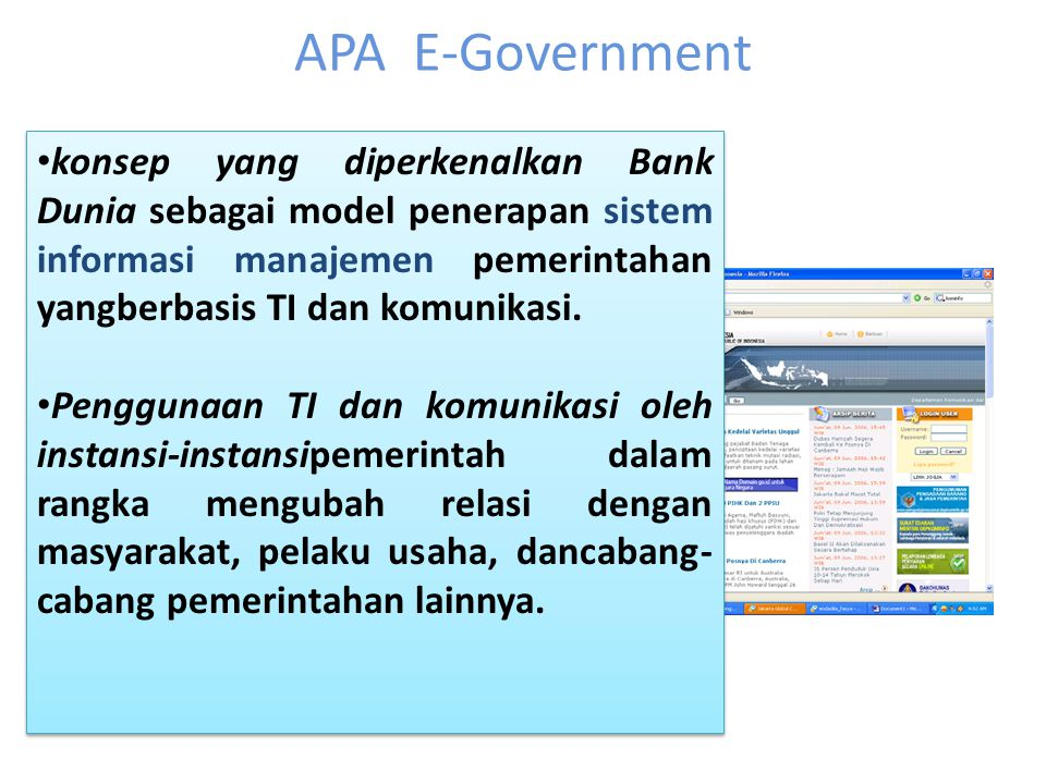 APA E-Government